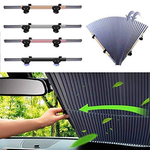 CULASIGN 1 Packung Automatische einziehbare Sonnenschutz fürs Auto Vorhang, Sonnenschutz Magnetisch für UV-Schutz, Hitzeschutz (65 cm breit)
