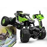 GizmoVine RC Coche Teledirigido Rock Crawler 4WD 2.4GHz Camión de Control Remoto Vehículo Alta Velocidad 1:16 Impermeable Juguete (Verde)