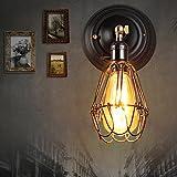 Vinteen Industrielle Weinlese-Vogelkäfig-Wand LOFT-Stangen Wand-Scheinwerfer-Lampen-Befestigung Edison-Eingang Eisen-Kunst-Persönlichkeits-Kreativitäts-Restaurant-Schlafzimmer-Nachttisch-Leuchter