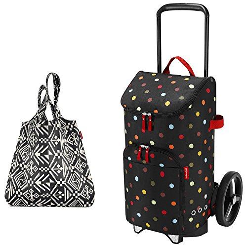 reisenthel citycruiser Rack + citycruiser Bag 45 l Einkaufstrolley - dots + Mini Maxi Shopper hopi
