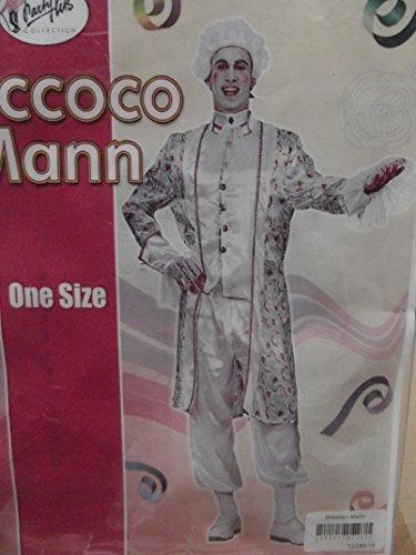 Erwacksenen Kostüm Verkleidung Fasching rokoko roccoco Mann one size