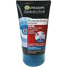 Garnier Pure Active, Limpiador, 3 En 1, Carbón - 150ml