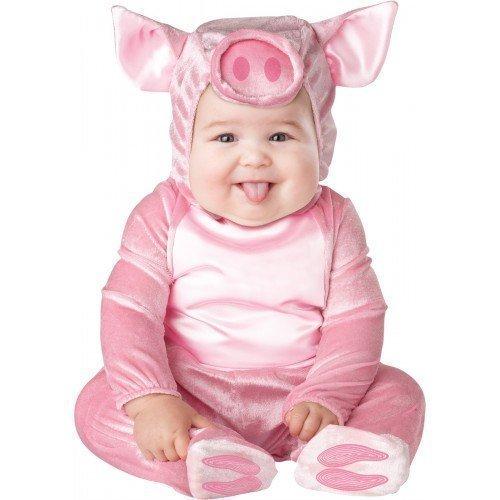 Deluxe Baby Jungen/Mädchen, Rosa Schwein, Bauernhof Tier Figuren Halloween Kostüm (Baby Schwein Kostüm)
