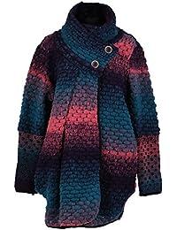 GG Frauen Damen Bubble Coatigan Italian Lagenlook Quirky Schicht Wool Zip Langarm-Cocoon-Mantel-Jacken Poncho Cape Oversize