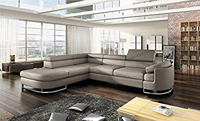 New Stock - 2015 Model - BMF ICE Corner Sofa Bed - Faux Leather Fabric - GOOD PRICE !!! from BMF