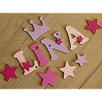 7cm Holzbuchstaben in tollen Farbkombinationen für die Kinderzimmertür. Perfektes Geburtsgeschenk oder Taufgeschenk