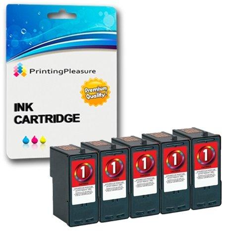 Preisvergleich Produktbild 5 Tintenpatronen kompatibel zu Lexmark No. 1 für X2300 X2310 X2315 X2320 X2330 X2340 X2350 X2360 X2370 X2380 X2390 X2450 X2460 X2465 X2470 X2480 X3450 X3470 X3480 Z730 Z735 - Color, hohe Kapazität