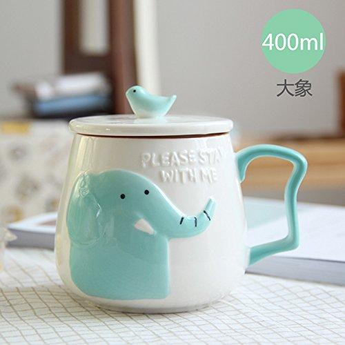 Yomiokla Precioso animal marca cerámica taza taza de oficina vaso con una...