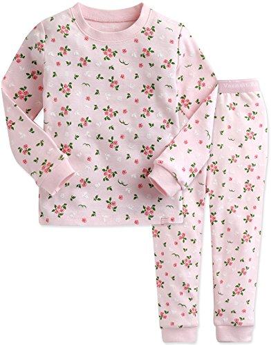 Vaenait baby 74-122 Saeugling Maedchen Bekleidung Langarm zweiteilig Schlafanzug niedlich Pink Rose S