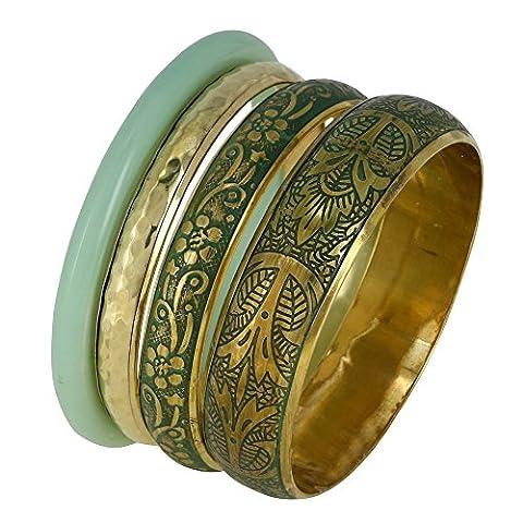 Seladon und goldenen Schmuck Indischen Mode Armband Damen Armreifen für Sie