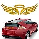 muchkey® Angel Wing funny Auto Aufkleber New Angel Fee Flügel Auto Aufkleber rot gold blau Farbe 1Set für alle Reis Rocket Reflektierende Aufkleber