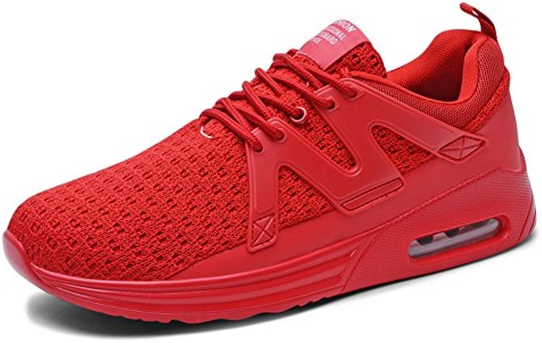 Toptak Herren Low Top Laufschuhe Athletic Turnschuhe Walking Sport Fitness Schuhe Rot