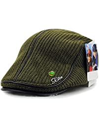 LOCOMO Men Women Knit Faux Wool Woolen Warm Winter Newsboy Flat Cap FFH351GRY