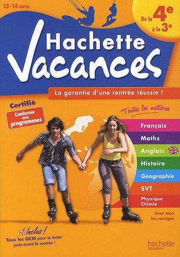 Hachette vacances : De la 4e à la 3e (13-14 ans)