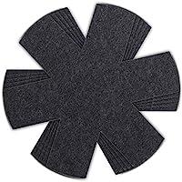 HEYNNA® Premium protèges poêles à feutre noir - lot de 5 - pour poêles et casseroles - Ø32cm