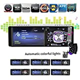 Auto Stereo 10,4 cm, teepao Auto Stereo MP5 Player 10,4 cm 1 DIN Auto MP5 Player Radio Auto Audio Stereo FM Bluetooth 2.0 USB/SD AUX-IN mit Rückfahrkamera und Rad Control