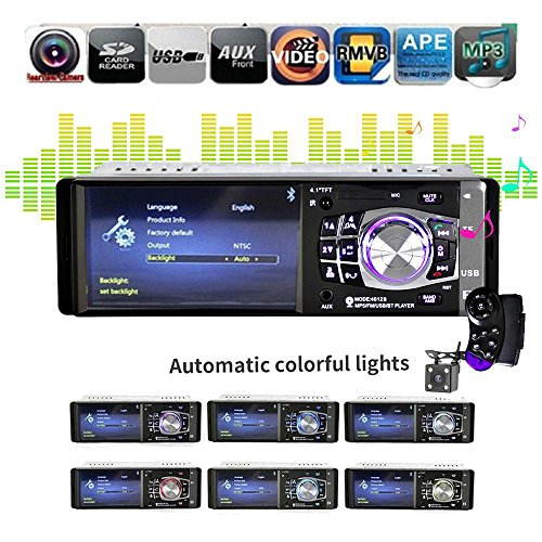 Auto Stereo 10,4 cm, teepao Auto Stereo MP5 Player 10,4 cm 1 DIN Auto MP5 Player Radio Auto Audio Stereo FM Bluetooth 2.0 USB/SD AUX-IN mit Rückfahrkamera und Rad Control (Die Baby-anruf-mit-kamera)