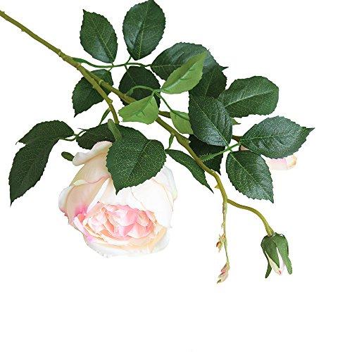 Sulifor Rose einzigen Zweig künstliche Blume, 1PC künstliche gefälschte Rose Blume Brautstrauß Hochzeitsfeier Hauptdekoration Gesamtlänge: APPR.73cm Blumendurchmesser: 10cm Blumenhöhe: APPR. 7,5 cm (Hartriegel-künstliche Blume)