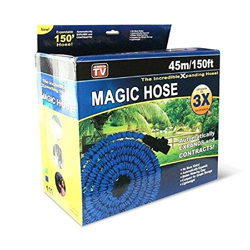 Magic Hose Schlauch Magic Stretch für Garten, Pumpe estenisibile bis zu 3mal seiner ursprünglichen Länge 15m oder 45m 45m/150ft