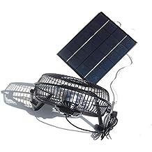 NUZAMAS 5,2 W 6 V Panel solar alimentado grande 8 pulgadas ventilador para camping