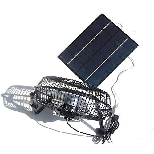 NUZAMAS 5,2 Watt 6 V Solar Panel Powered Große 8 Zoll Fan für Camping Wohnwagen Yacht Gewächshaus Hund Haus Huhn Haus Ventilator