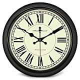 ZHAS Uhren Wohnzimmer kreative Mute Quarzuhr Taschenuhr Schlafzimmer Wecker Neu (Farbe: A, Größe: 16 cm)