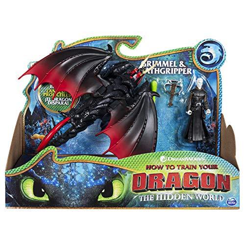 Cómo entrenar a tu dragón - Dragón Deathgripper y Vikingo Grimmel, Dragons Deathgripper (Bizak 61926547)