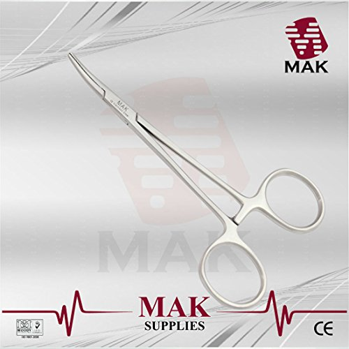 MAK Haemostatic Forceps Halstead Mosquito 12.5cm Curved Surgical Instruments