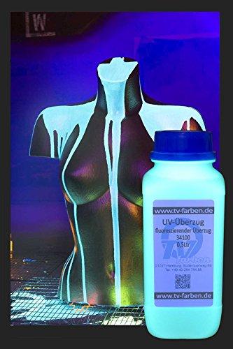 erzug 0,5l - Fluoreszierender Klarlack - Sichtbar unter UV-Licht (Uv-unsichtbare Farbe)