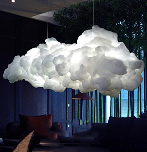 Modern Chandelier, Creative Cloud flotante Colgante Bar Cafetería Mostrador Tienda Tienda Decoración Lámpara de candelabro de la lámpara de la nube [Clase de eficiencia energética A ++]