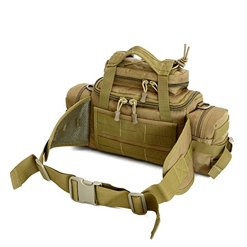 FFZH Uomini e donne borsa camouflage / Utility Tactical marsupio Molle militare Assault Pouch Trekking Escursionismo Bum Hip Pocket Ruck Sack portare borse , jungle number cp camouflage