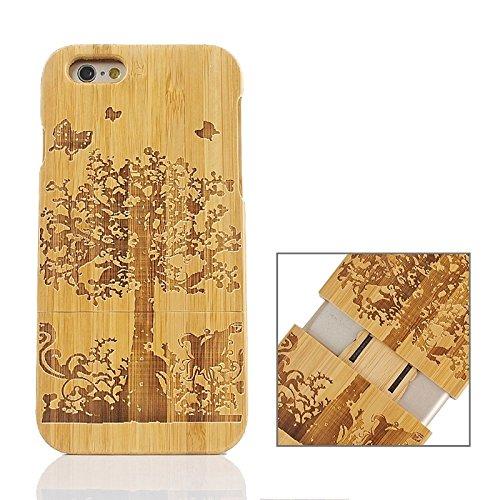 Zhou-covers, per iphone 6 & 6s, caso di legno separabile di modello della bandierina del regno unito (sku : s-ip6g-0336m)