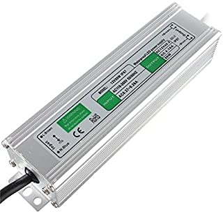 LEDSoneTransformer 50Watts LED Strip Module Driver Power Supply Lighting Outdoor IP67 Waterproof Ac in 110-260V Dc Out 12V 4.16Alighting Transformer (50.0 Watts/IP67)