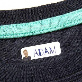 Ikast Etikett Selbstklebende personalisierte Namensetiketten 90 Stück für Kleider, Hosen, T-Shirts in Weiß