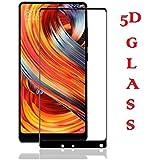 Xiaomi Mi Mix 2, Tempered Glass, 5D (Black) Premium Real 2.5D 9H Anti-Fingerprints & Oil Stains Coating Hardness Screen Protector Guard For Xiaomi Mi Mix 2