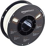 AmazonBasics - PLA 3D-Drucker Filament, 1,75 mm, Weiß, 1 kg Spule