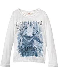 DDP G1DIV5B - T-shirt - Imprimé animal - Col rond - Manches longues - Fille