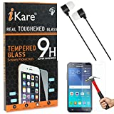 iKare Tempered Glass for Samsung Galaxy Mega 5.8 I9150, Tempered Screen Protector for Samsung Galaxy Mega 5.8 I9150 + Black Stereo Earphone with Mic