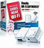 devolo dLAN 500 Wi-Fi Powerline Starter Kit (2 x PLC Homeplug Adapter, 1 x LAN Port, Wi-Fi Signal Booster, Wireless Range Extender, Wi-Fi Move, Power Save) - White