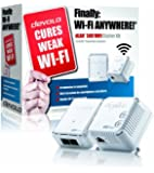 Devolo dLAN 500 Wi-Fi Powerline Starter Kit, Wi-Fi Access in Every Room (500 Mbps, 2 Plugs, 1 LAN Port, Small, Wi-Fi Booster, Wi-Fi Repeater, Wi-Fi Extender Kit, PLC Adapter, LAN, Wi-Fi Move) - White