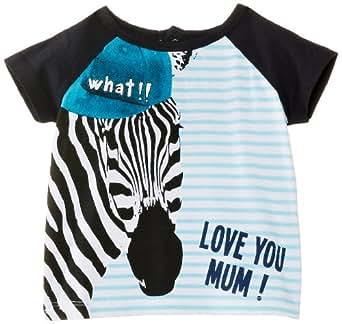 Desigual Baby Boys TS_Cebra T-Shirt, Turquoise Palo, 0-3 Months (Manufacturer Size:3)