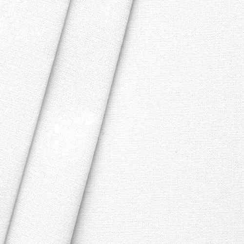 STOFFKONTOR B1 Baumwolle Nessel Stoff Meterware Breite 320 cm Weiss Gebleicht