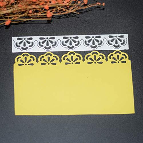Teydhao Pizzo Floreale Fustelle Figura Decorative Bordi Metallici Stencil per Greeting Card Copertura goffratura Stencil Fai da Te Scrapbooking Album