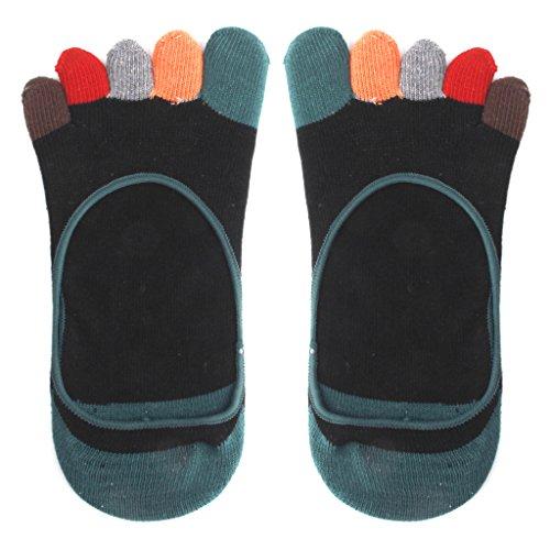 Footful Chaussettes Courtes à Cinq Orteils Colorés Socquettes Invisibles pour Femme