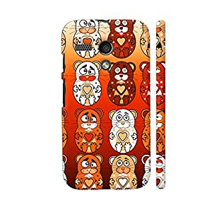 Colorpur Cute Bunny Teddy Pattern 1 Designer Mobile Phone Case Back Cover For Motorola Moto G1 | Artist: Sangeetha