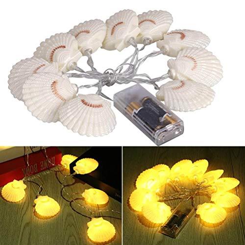 Gutyan Lichterkette, wasserdichte Muschel Lichterketten LED Lichterkette mit Timer Weihnachtsbaum Deko für Innen und Außen