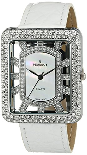 Peugeot Women's J6085S Analog Display Japanese Quartz White Watch