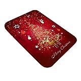 JUNMAONO Weihnachten Teppiche/Teppich/Matte/Fußmatte/Fußmatten/Bodenmatte/Bodenfliese/Fußabtreter/Fußabstreifer/Fußbodenmatte/Sauberlaufmatte/Schmutzfangmatte (C, 60 x 180 cm)