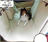 Hundedecke Auto Mit Sicherheitsgurt Rutschfest Autoschutzdecke Hund Mit Seitenschutz Hundeschutzdecke Auto Wasserdicht Autodecke Hund Für Rückbank Hunde Autoschondecke ,Beige