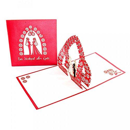 """Hochzeitskarte """"Lesbian Wedding"""", Lesbische Hochzeit, edle 3D Karte zur gleichgeschlechtlichen Trauung, Mrs. & Mrs."""